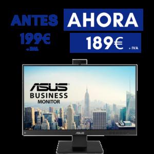 "ASUS Business Monitor 24"" con cámara web integrada"
