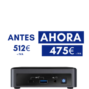 PC MINI INTEL NUC CORE I5-10210U HDMI/WLAN/USB3/M2 – MEMORIA 8GB – DISCO SOLIDO SSD WD BLUE 500GB M.2